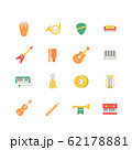 MUSICAL INSTRUMENT ICON SET 62178881