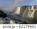 ブラジル側のイグアスの滝と虹(2) 62179901
