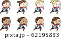 ラグビーをする世界の子ども 赤 62195833