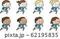 ラグビーをする世界の子ども 青 62195835
