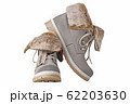 Pair of winter womens boots on the white 62203630