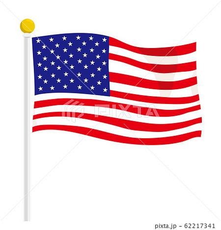 アメリカ国旗 イラスト 62217341