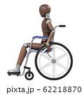 デッサン人形と車椅子 62218870
