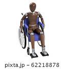 デッサン人形と車椅子 62218878