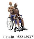 デッサン人形と車椅子 62218937