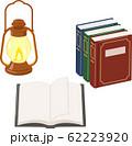 アンティークの本とオイルランプ 62223920