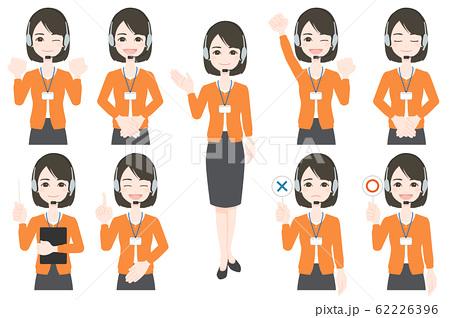 オペレーター 女性 カジュアル 62226396
