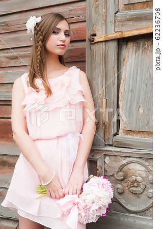 beautiful woman with flower... 62236708