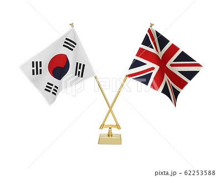 二つの国の卓上国旗 62253588