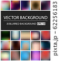 Abstract Creative concept vector multicolored blurred background set. For Web and Mobile 62256183