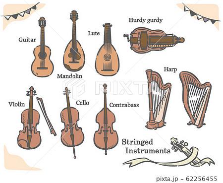 弦楽器イラスト素材セット 62256455