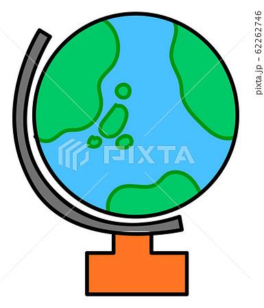 地球儀 かわいい イラスト 小学校 アイコン セット 62262746
