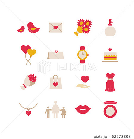 MOTHER'S DAY ICON SET 62272808
