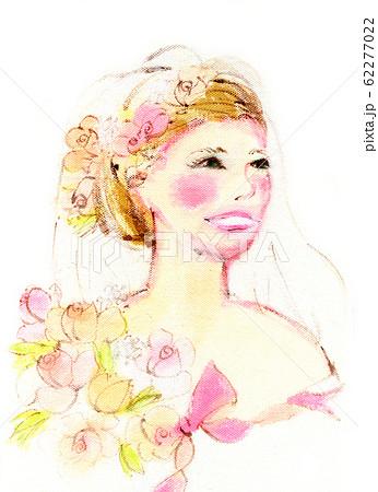 結婚式を迎える花嫁さん 62277022