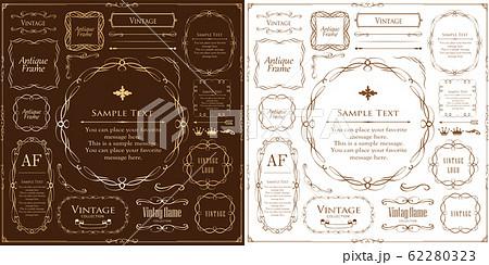 ウエディング デザイン テンプレート ビンテージ アンティーク ゴージャス プレミアム  62280323