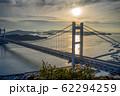 岡山県 鷲羽山展望台からみる瀬戸大橋 62294259