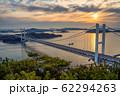 岡山県 鷲羽山展望台からみる瀬戸大橋 62294263