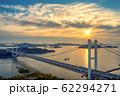 岡山県 鷲羽山展望台からみる瀬戸大橋 62294271