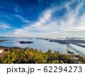 岡山県 鷲羽山展望台からみる瀬戸大橋 62294273