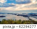 岡山県 鷲羽山展望台からみる瀬戸大橋 62294277