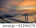 岡山県 鷲羽山展望台からみる瀬戸大橋 62294278
