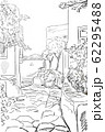 Drawing to the greek town -  sketch illustration 62295488