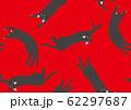 パターン ねこ 黒猫 ネコ あか 62297687