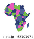 Very simplified infographical political map of Africa. Simple geometric vector illustration 62303971