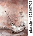 水彩画 帆船  62305703