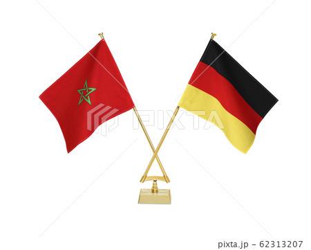 二つの国の卓上国旗 62313207