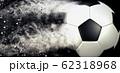 抽象的なサッカーボールのクローズアップ 62318968
