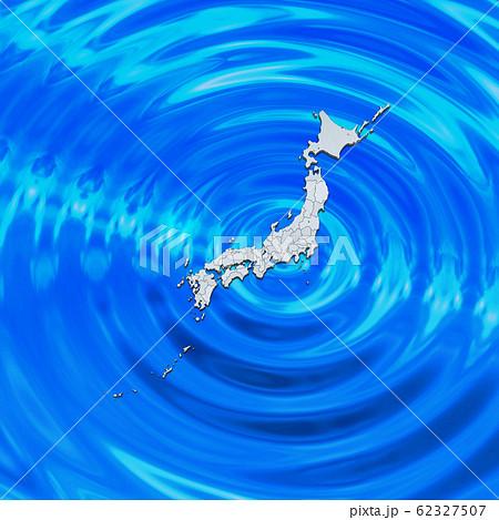 太平洋の日本地図 62327507