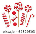 Christmas candy lollipops 62329503