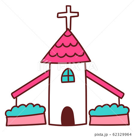 教会 チャペル イラスト 素材 アイコン 手書き風 かわいい 62329964