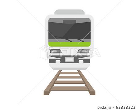 線路を走る電車のイラスト 62333323
