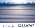 《北海道》冬の美瑛・ストライプ模様の雪原の丘 62339797