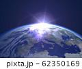 地球 夜明け ヨーロッパ(星ナシ) 62350169