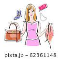 フリマで不用品を売る女性 可愛い系 62361148