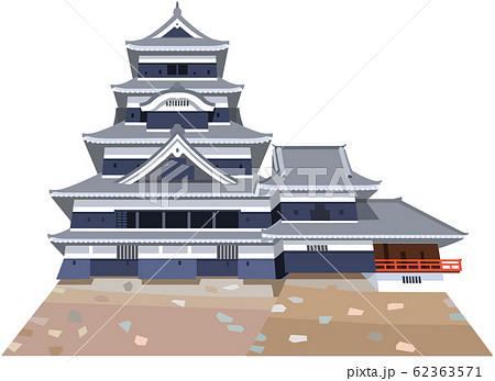 松本城イメージ 観光地イラストアイコン 62363571
