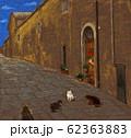 風景画 イタリアの猫たち 62363883