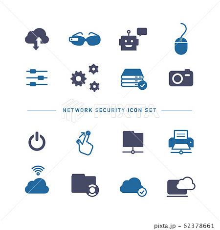 NETWORK TECHNOLOGY ICON SET 62378661
