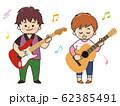 ミュージシャンの男女 歌手 シンガー 62385491