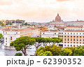 Vatican City with St. Peter's Basilica. Panoramic skyline view from Castel Sant'Angelo, Rome, Italy 62390352