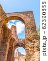 Bottom view of arches of ancient ruins on Palatine Hill 62390355