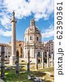 Trajan's Column and Church of the Most Holy Name of Mary, Rome, Italy 62390361