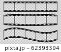 Five frames of classical 35 mm film strip. 62393394