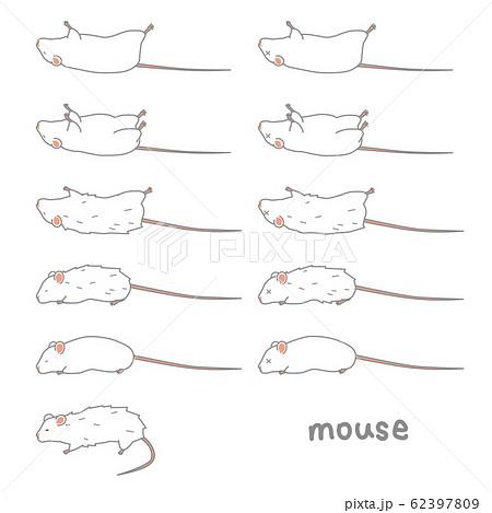 体調の悪いマウスのベクターイラストセット 62397809