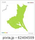 茨城県の地図・Ibaragi(市町村・区分け) 62404509