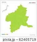 群馬県の地図・Gunma(市町村・区分け) 62405719