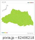 埼玉県の地図・Saitama(市町村・区分け) 62406218